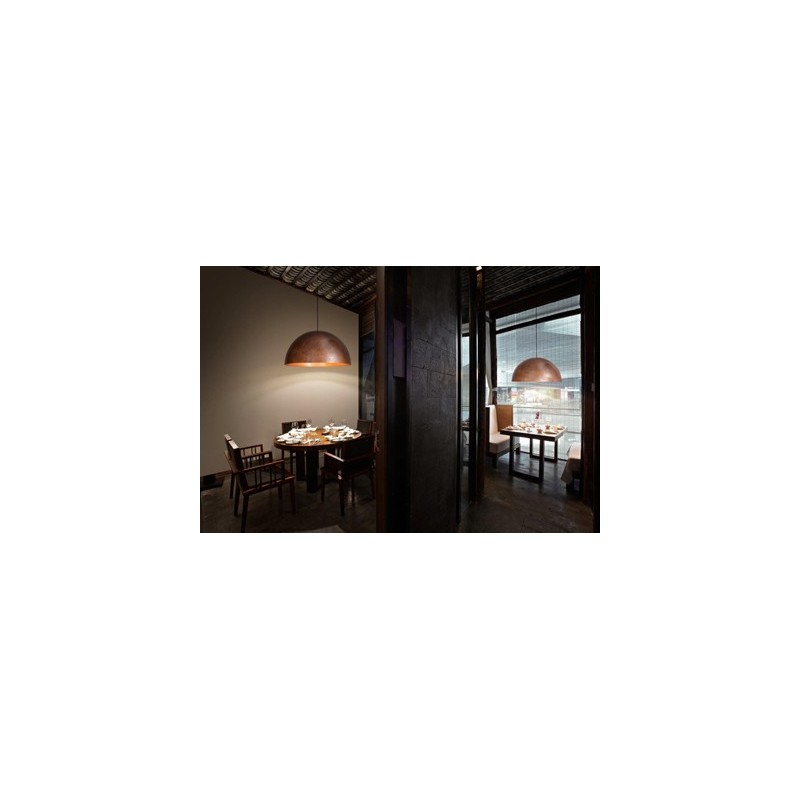 Fabbian Oru lampada a sospensione rame -> Lampadari Moderni Color Rame