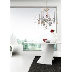 Masiero Lizzi 3050 4+4 lampadario classico con pendenti verniciati
