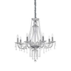 Ideal Lux Amadeus SP8 lampadario classico soggiorno a 8 luci E14 40W