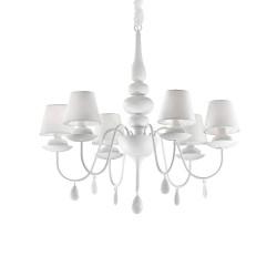 Ideal Lux Blanche SP6 lampadario classico moderno a 6 luci  E14 40W