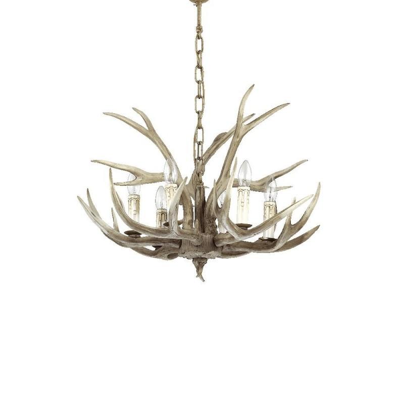 Ideal Lux Chalet SP6 lampadario da sala classico a 6 luci E14 40W