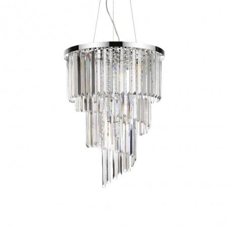 Ideal Lux Carlton SP12 lampadario classico cristallo E14 40W