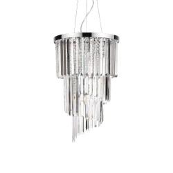 Ideal Lux Carlton SP8 lampadario classico cristallo E14 40W