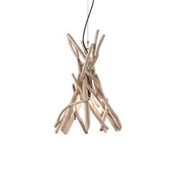 Ideal Lux  Driftwood SP1 lampadario classico per sala da pranzo in legno naturale E27 60W
