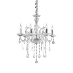 Ideal Lux Giudecca SP6 lampadario a sospensione classico in vetro soffiato a 6 luci E14 40W