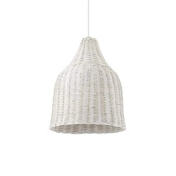 Ideal Lux Haunt SP1 lampadario a soffitto classico in vimini E27 60W