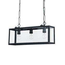 Ideal Lux Igor SP3 lampadario classico in metallo colore nero opaco E27 60W