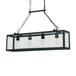 Ideal Lux Igor SP4 lampadari a sospensione per cucina, lampadari a sospensione vetro, lampade a sospensione vetro