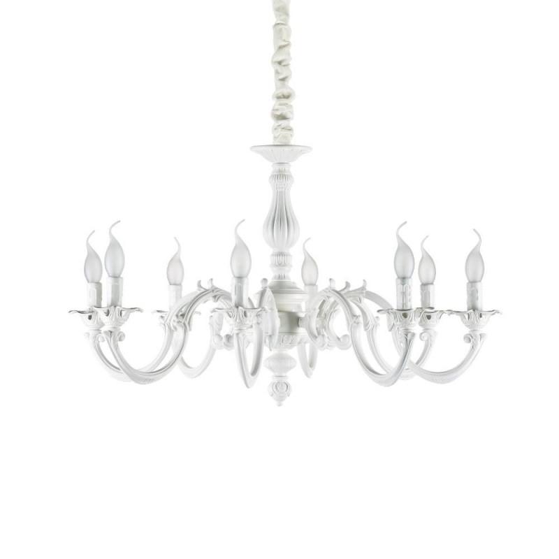 Ideal Lux Justine SP8 lampadario camera da letto colore bianco opaco