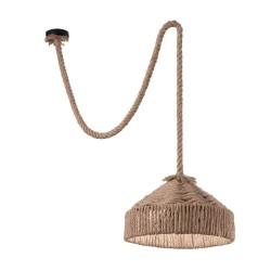 Ideal Lux Canapa SP1 lampadario da parete classico in canapa E27 15W