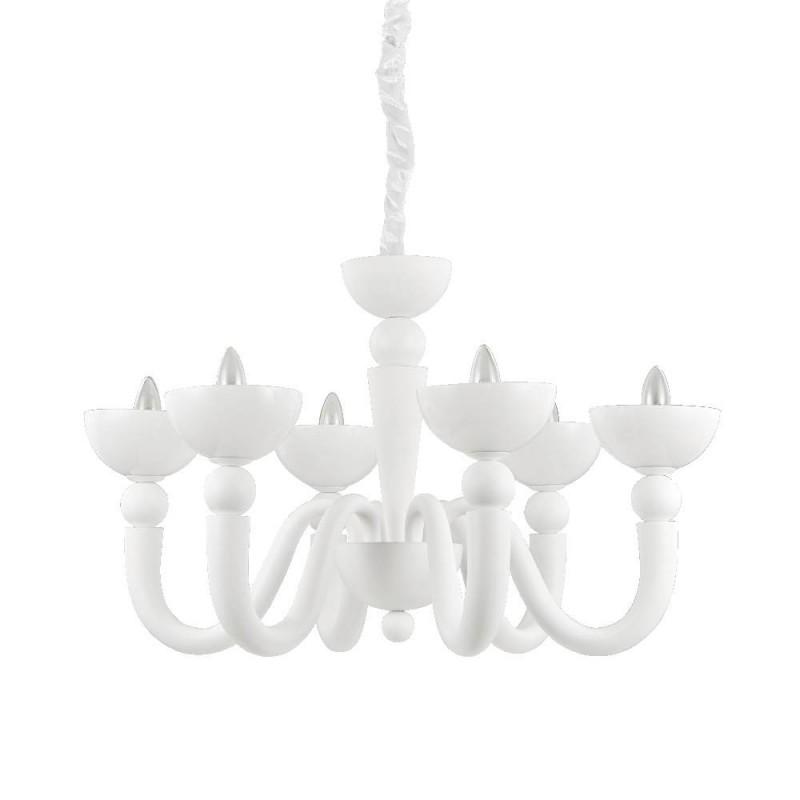 Ideal Lux Bon Bon SP6 lampadario classico per salone E14 40W