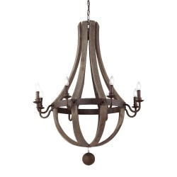 Ideal Lux Millennium SP8 lampadario classico per salone in legno naturale E14 40 W