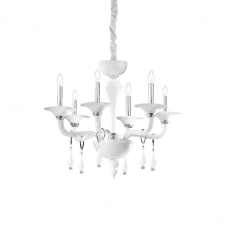 Ideal Lux Miramare SP6 lampadario a soffitto classico in vetro soffiato E14 40W