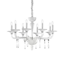 Ideal Lux Miramare SP8 lampadario a soffitto classico in vetro soffiato E14 40W