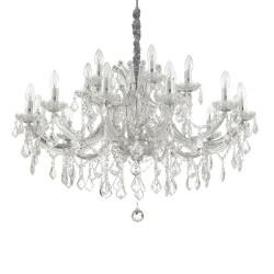 Ideal Lux Napoleon SP18 lampadario classico per salone in vetro e cristallo E14 40W