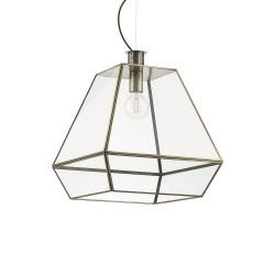 Ideal Lux Orangerie SP1 Big lampadario classico da cucina in vetro con finitura in brunito E27 60W