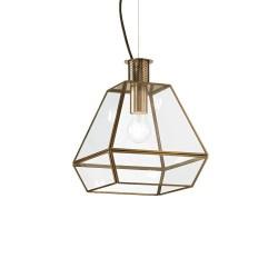 Ideal Lux Orangerie SP1 Small lampadario classico da cucina in vetro con finitura in brunito E27 60W