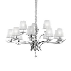 Ideal Lux Pegaso SP12 lampadario a sospensione classico per salotto E14 40W