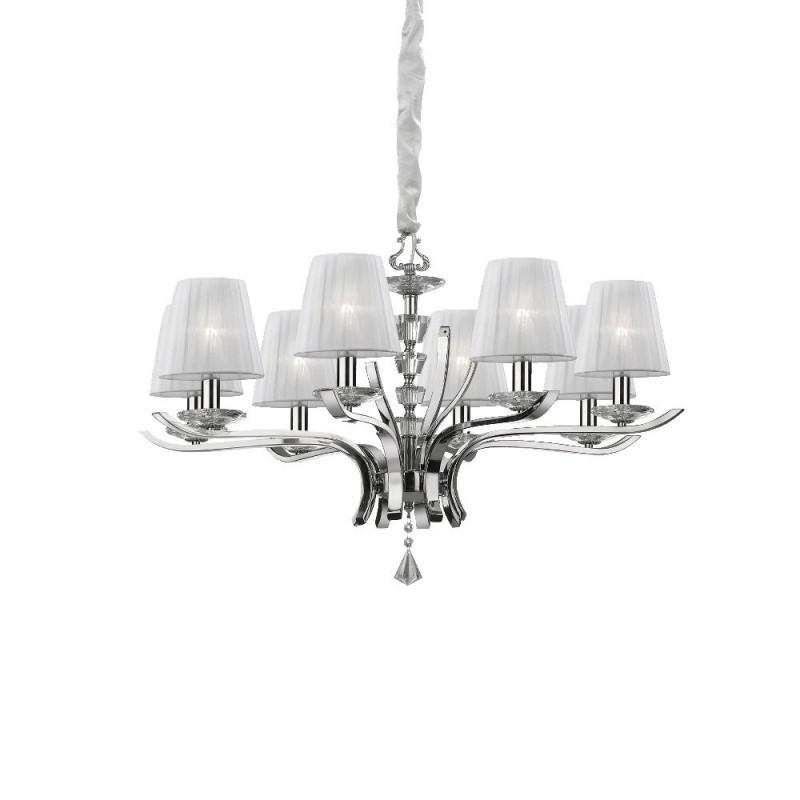 Ideal Lux Pegaso SP8 lampadario a sospensione classico per salotto E14 40W
