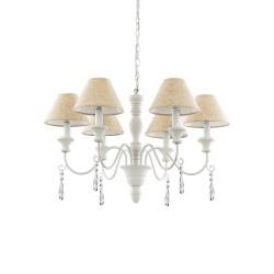 Ideal Lux Provence SP6 lampadario classico a sospensione per sala da pranzo E14 40W