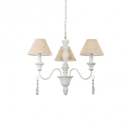 Ideal Lux Provence SP3 lampadario classico a sospensione per sala da pranzo E14 40W