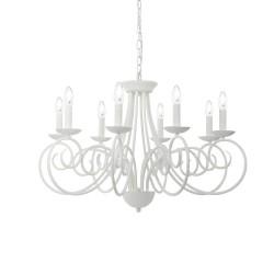 Ideal Lux Sem SP8 lampadario classico per soggiorno bianco satinato E14 40W