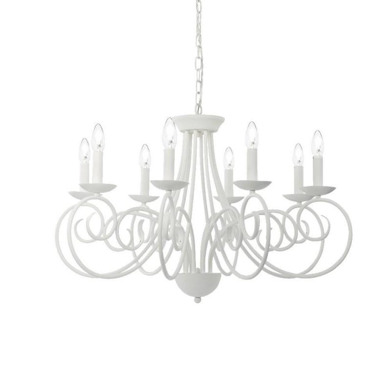 Ideal Lux Sem SP8 lampadario per soggiorno bianco satinato