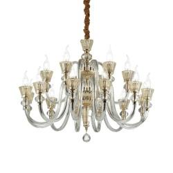 Ideal Lux Strauss SP18 lampadario classico di lusso E14 40W