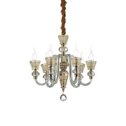 Ideal Lux Strauss SP6 lampadario classico di lusso E14 40W