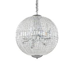 Ideal Lux Luxor SP12 lampadario classico per soggiorno in cristallo molato G9