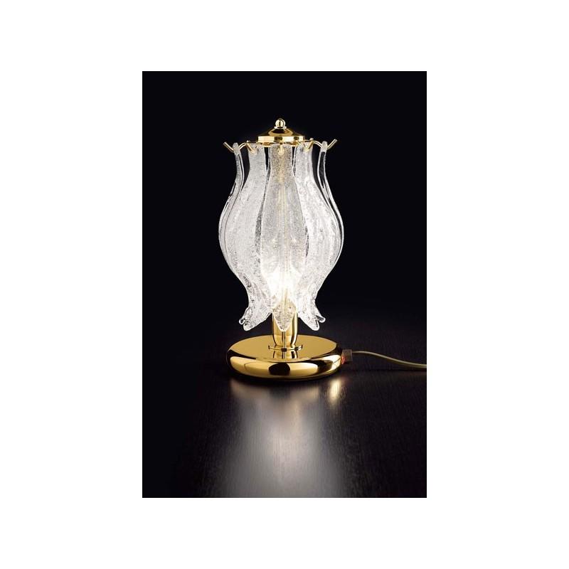 Lampada particolare da tavolo Petali lampade da comodino in vetro