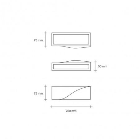 Sforzin Pellene T200 applique in gesso moderna