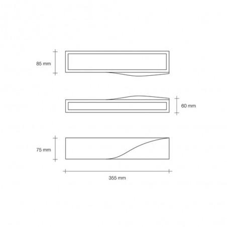 Sforzin Pellene T201 applique in gesso moderna