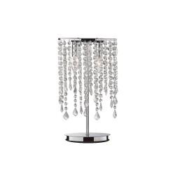 Ideal Lux Rain Clear TL2  lampada da tavolo moderna in cristallo molato