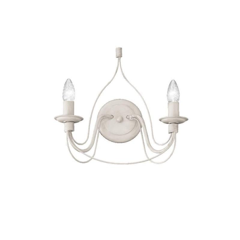 Ideal Lux Corte AP2 lampada da parete classica a 2 luci E14 40W