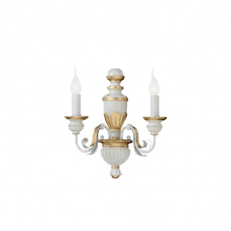 Ideal Lux Firenze AP2 lampada applique in stile classico E14 40W