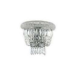 Ideal Lux Dubai AP2 lampada da parete classica in cristallo