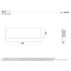 9010 2421B applique moderna da parete doppia emissione