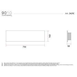 9010 2421C applique moderna da parete doppia emissione