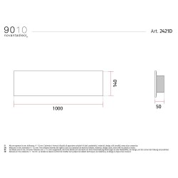 9010 2421D applique moderna da parete doppia emissione