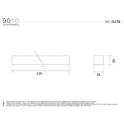 Applique moderna verniciabile 9010 modello 2423