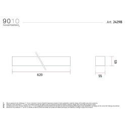 Applique moderna verniciabile 9010 modello 2429