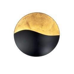 Ideal Lux Sunrise AP4 applique moderna in metallo colore nero oro G9