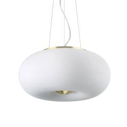 Ideal Lux Arizona SP3 lampadario  sospensione Led in vetro bianco soffiato decorato