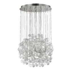 Ideal Lux Bollicine SP14 lampadario sala da pranzo in vetro soffiato G9
