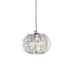 Ideal Lux Calypso SP1 lampadario moderno in cristallo molato G9