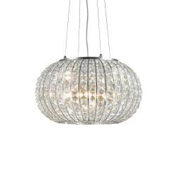 Ideal Lux Calypso SP5 lampadario a sospensione moderno in cristallo molato E27 60W