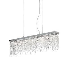 Ideal Lux Giada Clear SP5 lampadario moderno in cristallo molato G9