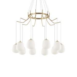 Ideal Lux Karousel SP10 lampadario moderno led bianco G9