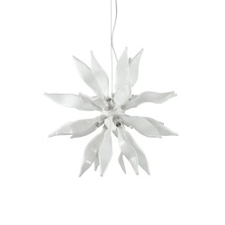 Ideal Lux Leaves SP8 lampadario moderno in vetro soffiato modellato a mano G9